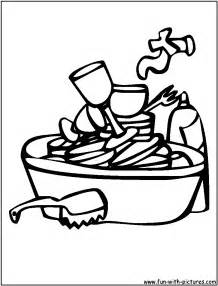 Dirty Dishes Colouring Pages sketch template