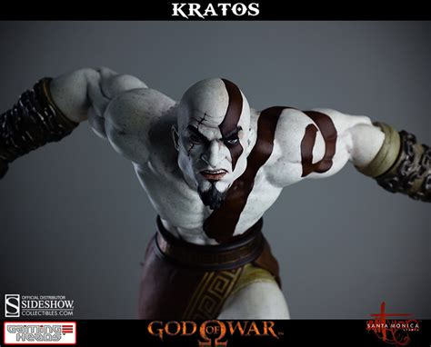 god of war god of war lunging kratos statue by gaming