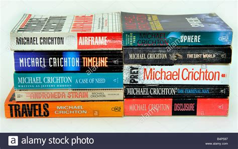 Novel Michael Crichton 30rb michael crichton books paperbacks soft cover sphere the lost world stock photo royalty free