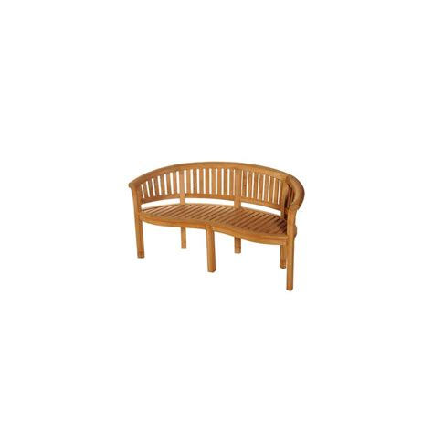 teak banana bench bramblecrest broadway banana bench solid teak garden
