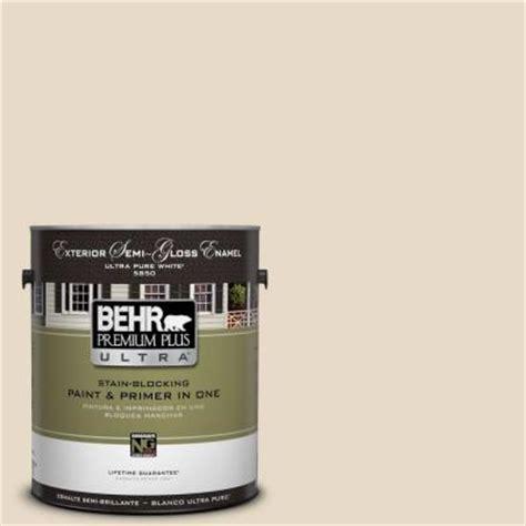 behr premium plus ultra 1 gal 1823 antique white semi gloss enamel exterior paint 585001 the