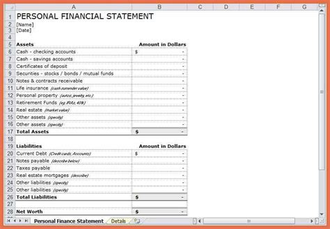 28 personal flow statement template excel excel flow