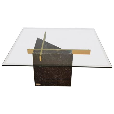 marble base table l black marquina marble base and glass top coffee table by