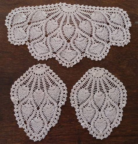 pattern of vintage crochet lace in an ecru color details about vintage crochet lace antimacassar chair