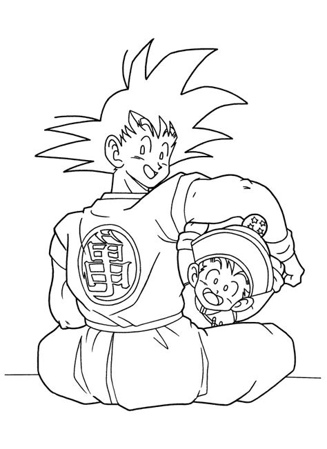 dragon vall goku and gohan coloring pages coloring page