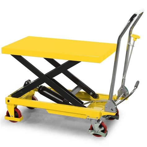 Table Scissor Lift 150kg scissor lift table maximum lift height 0 72m