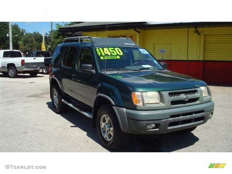 2000 alpine green metallic nissan xterra xe v6 85356509 photo 2 gtcarlot car color