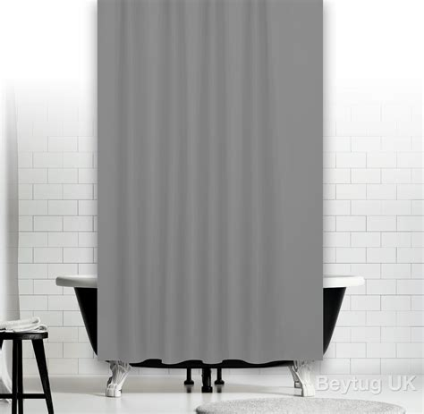 shower curtain width plain grey fabric shower curtain in 3 sizes extra long
