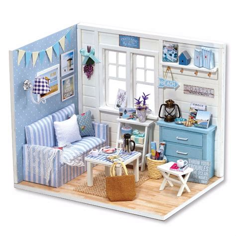 handmade dolls house miniatures cute room handmade doll miniature furniture diy doll house