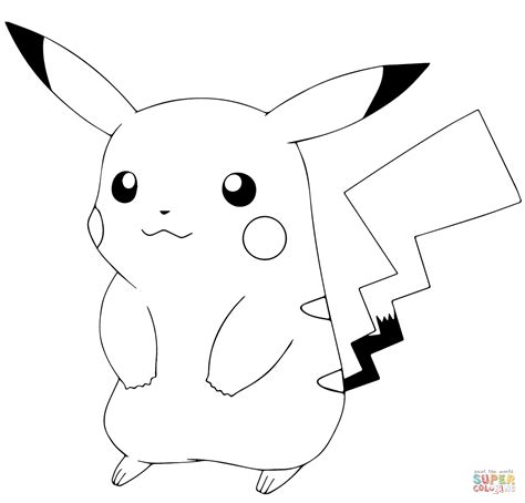 coloring pages of pokemon pikachu pok 233 mon go pikachu coloring page free printable coloring