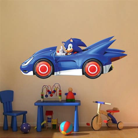 sonic wall stickers sega sonic wall decal sonic the hedgehog wallpaper