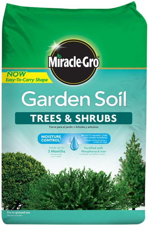 miracle gro garden soil  trees shrubs soils