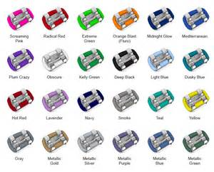 braces color selector colour your smile with our coloured braces ethos