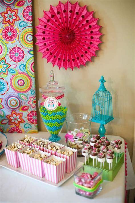 Owl Birthday Decorations by Kara S Ideas Owl Whoo S One Themed Birthday