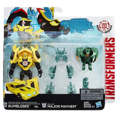 Transformers Robots Indisguise Bumblebee Vs Major Battle Pack transformers robots in disguise bumblebee vs major