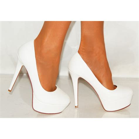 white stiletto high heels white high heel shoes is heel