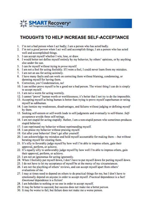 Self Acceptance Worksheets by Smart Recovery Worksheets Lesupercoin Printables Worksheets