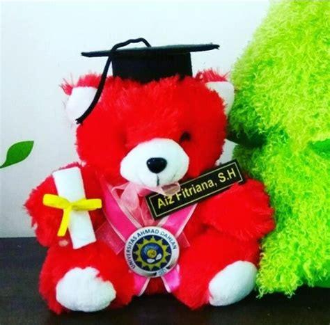 Boneka Wisuda Mini teddy merah mini duduk boneka wisuda uad kado wisudaku
