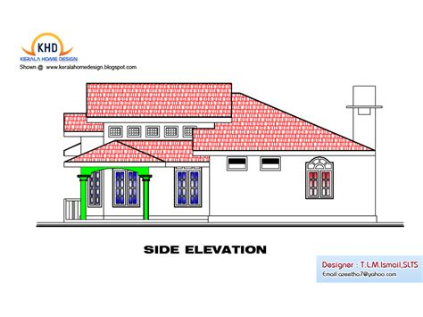kerala house design idea single floor house plan and
