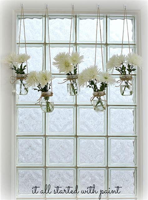 Flower Decor In Window Kitchen Jar Window Treatment It All Started With Paint