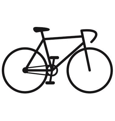 Road Bicycle Outline by Https Cdn Vectorstock I Composite 13 27 Bicycle Icon Vector 1841327 Jpg Fahrrad