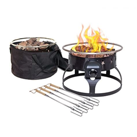 Propane Pit Grill Redwood Portable Gas Pit
