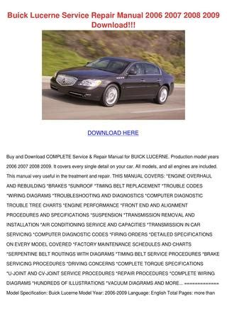 download car manuals pdf free 2009 buick lucerne windshield wipe control buick lucerne service repair manual 2006 2007 by nicholeneely issuu