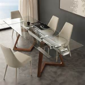 table de salle 224 manger extensible avec palteau en verre
