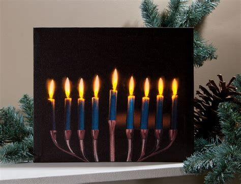 lighted canvas pictures wholesale menorah lighted picture by radiance lighted canvas