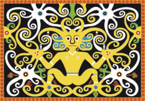 wallpaper batik kaltim dayak pattern vector download free vector art stock