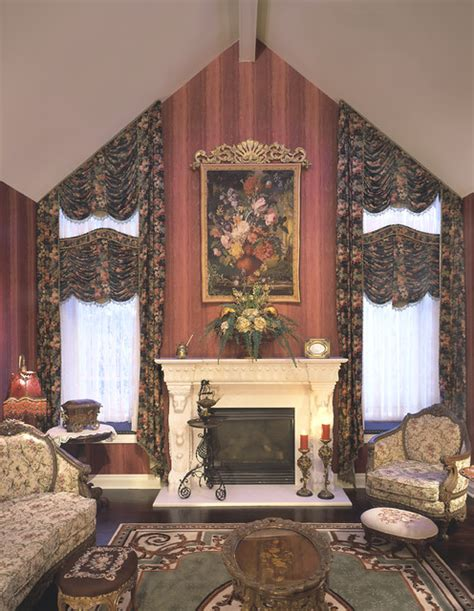 Traditional Living Room Window Treatments Window Treatments Traditional Living Room Omaha By