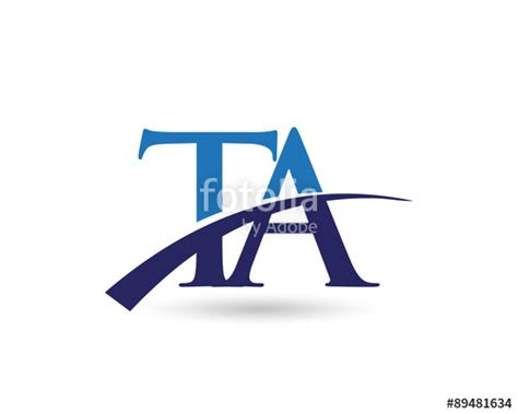 Ta Search Quot Ta Logo Letter Swoosh Quot Stock Image And Royalty Free Vector Files On Fotolia Pic