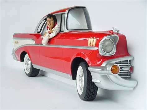 Garden Animal Statues by Red Chevy Car Wall Decor With Elvis