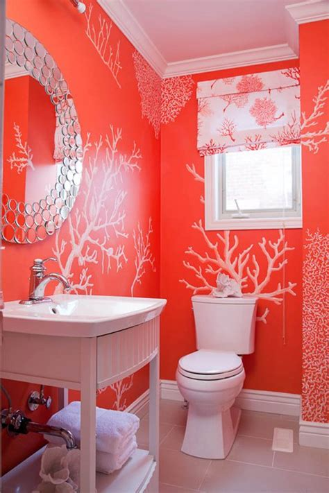 coral bathrooms bathroom bliss by rotator rod small bathroom chic