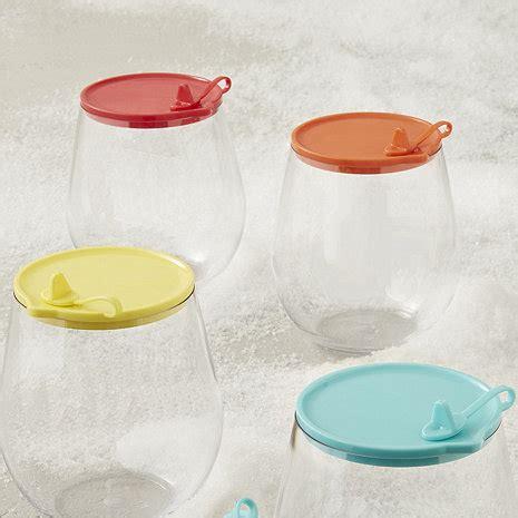 Outdor Tumbler 4 indoor outdoor wine tumbler lids set of 4 wine enthusiast