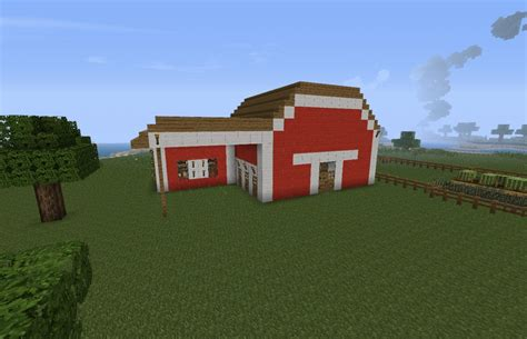 scheune minecraft real picture copyed and done on minecraft minecraft project