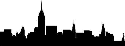 City Outline Vector by City Skyline Outline Clipart Best