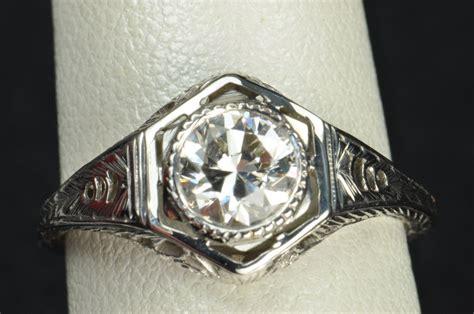 75 carat edwardian style engagement wedding ring from