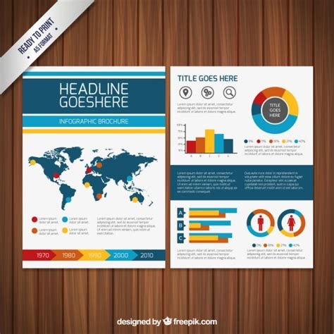 infographic brochure template infographic brochure template vector free