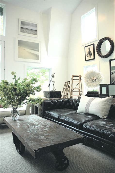 table industrial style living room  black