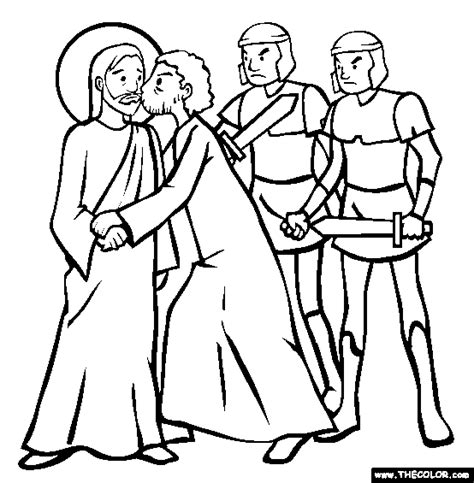 coloring pages of judas betrays jesus free coloring pages of 30 pieces of silver