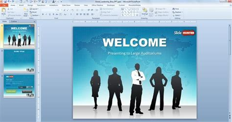 template powerpoint free 2007 free global leadership powerpoint template free