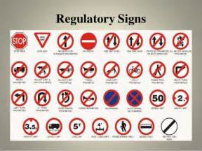 what color are regulatory signs transportation engineering i