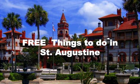 Fl St Always free things to do in st augustine near coquina ridge