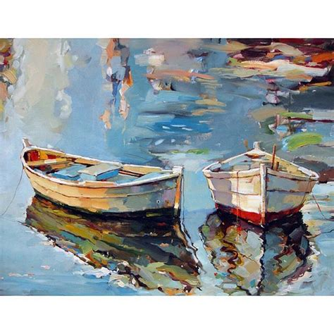 boat canvas art small boats i oil on canvas artist georgi kolarov