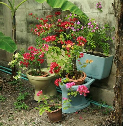 Toilet Flower Planter by Collection Of Upcycled Toilets