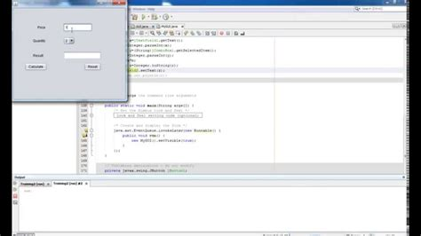 netbeans java swing tutorial java swing tutorial 2 displaying result in label or