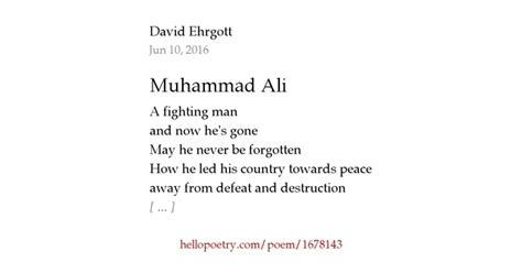 Amazon Now muhammad ali by david ehrgott hello poetry