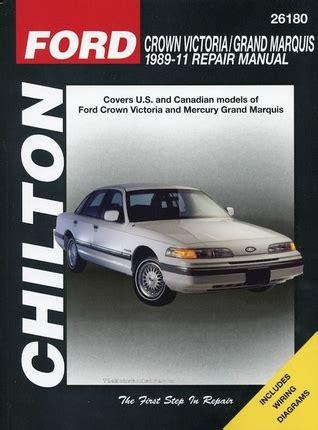 car repair manuals download 2009 mercury grand marquis interior lighting ford crown victoria mercury grand marquis repair manual 1989 2011