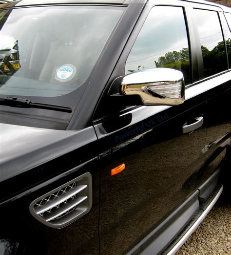 range rover welcome light new chrome mirror covers with led indicator welcome light